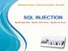 Đề tài: SQL Injection.