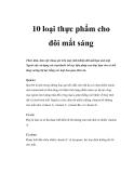 10 loại thực phẩm cho đôi mắt sáng
