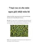 7 loại rau củ cho món ngon giải nhiệt mùa hè