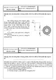 Đề thi giữa kỳ: Kỹ thuật thuỷ khí Đề số: 11203