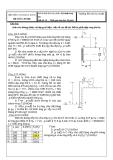 Đề thi kết thúc học phần: Kỹ thuật thuỷ khí  Đề số: 30