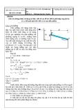 Đáp án đề thi kết thúc học phần: Kỹ thuật thuỷ khí  Đề số: 4