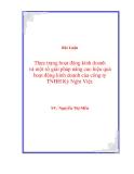 Đề Tài: Thực trạng hoạt động kinh doanh và một số giải pháp nâng cao hiệu quả hoạt động  kinh doanh của công ty  TNHH Kỳ Nghỉ Việt