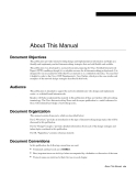 About This Manual Document Objectives