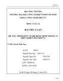 Tiểu Luận: Trình bày về bộ định thời trang  trong vi  điều khiển  PIC 16 F8 77 A