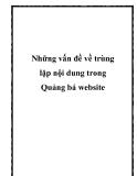 Những vấn đề về trùng lặp nội dung trong Quảng bá website