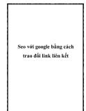 Seo với google bằng cách trao đổi link liên kết