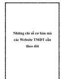 Những chỉ số cơ bản mà các Website TMĐT cần theo dõi