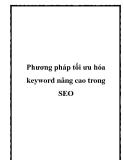 Phương pháp tối ưu hóa keyword nâng cao trong SEO.Phần lớn người làm SEO luôn tin