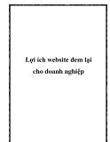 Lợi ích website đem lại cho doanh nghiệp