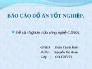 Đề tài :Nghiên cứu công nghệ CDMA.