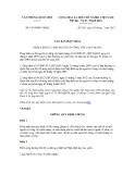 Văn bản hợp nhất số 01/VBHN-VPQH