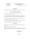 Quyết định số 610/QĐ-UBND