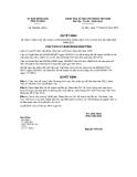 Quyết định số 962/QĐ-UBND