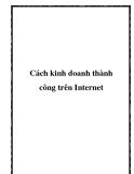 Cách kinh doanh thành công trên Internet