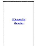 22 Nguyên Tắc Marketing