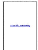 Mục tiêu marketing