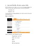 Quá trình lắp đặt, cấu hình modem ADSL