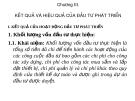 Chương III.   KẾT QUẢ VÀ HIỆU QUẢ CỦA ĐẦU TƯ PHÁT TRIỂN