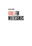 Jeremy Keith - HTML5 for web Designers