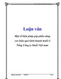 Luận văn: Một số biện pháp góp phần nâng cao hiệu quả kinh doanh muối ở Tổng Công ty Muối Việt nam