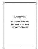 Luận văn: Mở rộng cho vay sản xuất kinh doanh tại chi nhánh NHNo&PTNT Láng Hạ