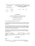MẪU QUYẾT ĐỊNH Về việc cấp Giấy phép thầu cho nhà thầu nước ngoài BỘ TRƯỞNG BỘ XÂY DỰNG (Hoặc Giám đốc Sở Xây dựng.......)