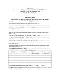 MẪU BẢN KHAI CÁ NHÂN Đề nghị hưởng chế độ trợ cấp một lần theo Quyết định số 62/2011/QĐ-TTg ngày 09/11/2011 của Thủ tướng Chính phủ