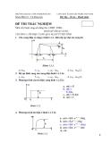 Đề thi trắc nghiệm môn Kỹ thuật xung số