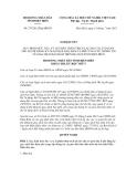 Nghị quyết số 275/2012/NQ-HĐND
