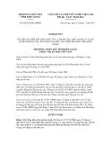 Nghị quyết số 60/2012/NQ-HĐND