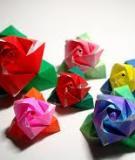 """""""Bông hồng ma thuật"""" từ cách gập giấy origami"""