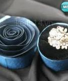 Hộp nhẫn hoa hồng trang nhã từ lõi giấy