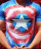 In hình khiên Captain America trên áo với mẹo siêu hay