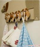 Kéo đàn heo lên tường làm móc treo đồ
