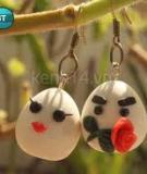 Khuyên tai vợ chồng nhà trứng cực cute