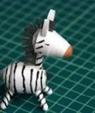 Làm ngựa vằn giấy xinh thật xinh, dễ thật dễ