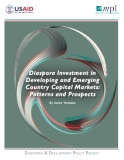 Diaspora Investment In Developing And Emerging Country Capital Markets: Patterns And Prospects