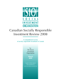 Canadian Socially Responsible  Investment Review 2008