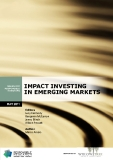 IMPACT INVESTING  IN EMERGING MARKETS