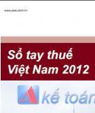 Sổ tay thuế Việt Nam 2012