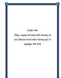Luận văn Thực trạng kế toán tiền lương và các khoản trích theo lương tại xí nghiệp XD 492