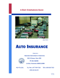 A RATE COMPARISON GUIDE : AUTO INSURANCE