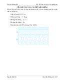 Đề bài: Lập thiết kế tổ chức thi công mặt đường tuyến A-B theo phương pháp dây truy ền