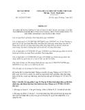 Thông tư số 119/2012/TT-BTC