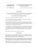 Thông báo số 17/2012/QĐ-UBND