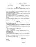Quyết định số 1751/QĐ-BTC