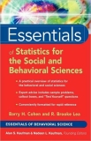 Essentialsof Statistics for the Social and Behavioral Sciences