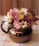 Hoa trang trí cực đẹp làm từ vỏ ngô