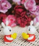 Móc khóa thỏ ngọc cho cặp đôi giàu sang cả năm